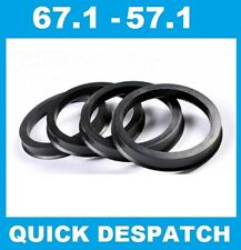 4 X 67.1 - 57.1 ALLOY WHEEL LOCATING HUB SPIGOT RINGS FIT SKODA FELICIA