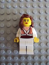 Lego Minifig ~ Pirate Queen Maiden Princess Girl Female Wench w/Brown Hair #hcx5