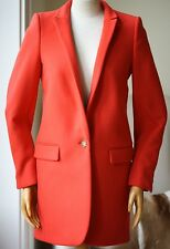STELLA MCCARTNEY RED BRYCE COAT IT 38 UK 6/8 US 4