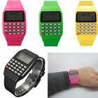 Silicone Date Multi-Purpose Child Kid Electronic Wrist Calculator Watch New Gift