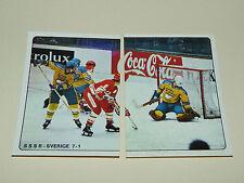 N°33-34 CCCP-SVERIGE 1978 PANINI HOCKEY 79 ICE GLACE 1979 CHAMPIONNAT DU MONDE