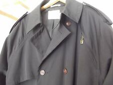 DESIGNER Trench Coat MATINIQUE raincoat Rain Mens s small BLACK nice! MSRP $175