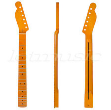 Lefty Left Handed Electric Guitar Neck For TL Parts Yellow Maple Wood 22 Fret