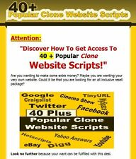 40 Plus Popular Clone Website Scripts w/ Reseller Sales Letter & Thank You Page