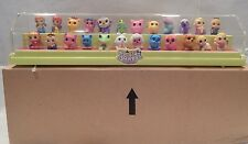 Squinkies 24 Squinkie Pieces  & Display Case Set New