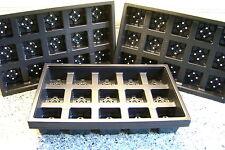 10 x Plateaux de Transport pour 7cm carrées en plastique pots de fleurs