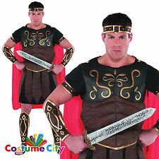 Mens Roman Gladiator Centurion Spartan Warrior Fancy Dress Costume - STANDARD