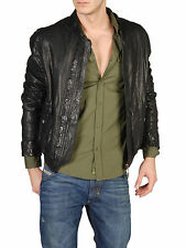 DIESEL LAWE BLACK LEATHER JACKET SIZE M 100% AUTHENTIC