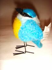 New Pin Felt Needle Felted Bluebird Collectible Miniature Wild Life Animal