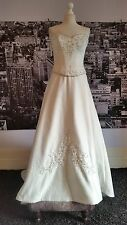 Beaded Lace up Bodice+Skirt with fabulous Train (Ivory) Wedding, Theatre etc