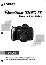 Canon Powershot SX20 IS Digital Camera User Instruction Guide  Manual