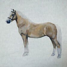 "18"" TEX EX ORIGINAL PALOMINO PONY HORSE CUSHION PANEL LINEN EQUESTRIAN HORSES"