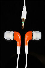 New 3.5mm In-Ear Earphone Earbud for iPhone Tablet PC Orange Gift