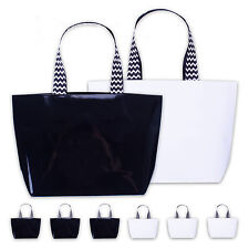 "6 x Bolsa de regalo Papel brillante ""BLACK & WHITE""18 28 8 cm negro blanco"