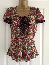 BNWT NEXT Multi Floral Print Chiffon Top Blouse & Camisole Set Size 8 RRP £25