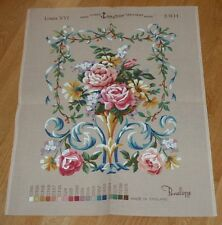 """VINTAGE PENELOPE LOUIS XVI PRINTED TAPESTRY CANVAS B404 approx 16 x 21"""" + border"""