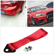 One 50mm*275mm Red Car Front Rear High Strength Racing Tow Strap Rope For Honda