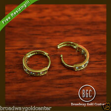 0.32 Carat Round Brilliant Cut Hoop Earrings in 14k Solid Yellow Gold ON SALE!!!