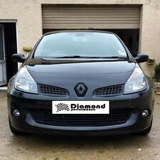 CLIO III incl SPORT 2007 + GLOSS BLACK FRONT BADGE EMBLEM COVER MANY COLOURS