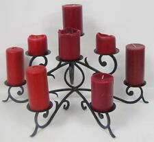 HUGE 3 TIERED 8 CANDLE WROUGHT IRON CANDLE HOLDER