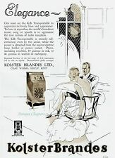 Koster Brandes KB Transportable Radio 1930 Advertisement Ad A910