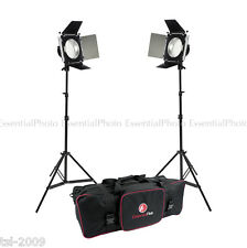 LED380 Barndoor Video Lights Portable Film Interview Lighting Kit Dimmable 5500K