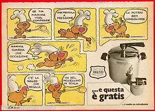 Pubblicità Advertising 1973 VALCO Pentola a pressione - comic