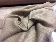 """100 YARDS 300FT ROLL 60""""W 10OZ BURLAP NATURAL JUTE FABRIC VINTAGE UPHOLSTERY"""