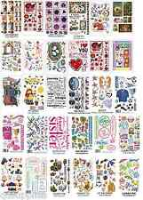 15 sheets RUB ON TRANSFERS MEGA SELECTION CARDMAKING SCRAPBOOKING GLASS ART