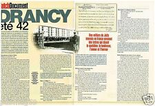 Coupure de presse Clipping 2002 (3 pages) Le Camp de Drancy Eté 1942