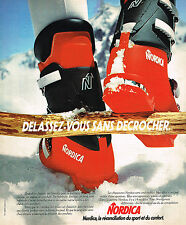 PUBLICITE ADVERTISING 064  1975  NORDICA  chaussures de ski