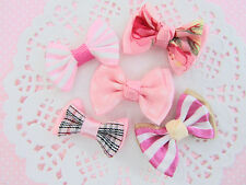 "50 Pre-Made 1.5"" Pink Ribbon Bow Design/Hair Craft Supply/Sewing/Trim/Sew F9-Mix"