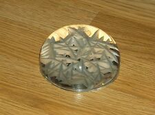 IMAGES INTERNATIONAL DOME ART GLASS FROSTED ICE 'GLACIAL' PAPERWEIGHT