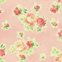 1/2 Yard Cottage Chic & Shabby Mary Rose Sweet Charms Roses MR2150-15A Pink
