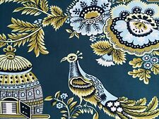 By 1/2 Yrd Amy Butler Cotton Fabric Belle Royal Garden Turquoise Japanese Floral