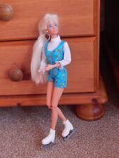 Vintage 1976 Rollerskating  Barbie Doll