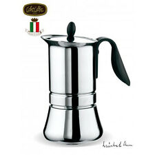 NEW 2016 Stainless Steel G.A.T CaffeCaffe Basic 6 Cup Espresso Coffee Maker