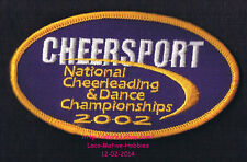 LMH PATCH Badge 2002 CHEERSPORT Cheerleading Dance Championship Competition Natl