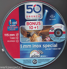 10 +1 Trennscheibe 115x1mm Dronco INOX Metalldose Metall/Stahl AS 60 T special