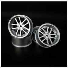 SPEEDLINE LX series RC Drift Car 1/10 Wheels Silver 10 Spoke Offset 6mm 52x26mm