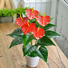 New 18 Heads Wedding Furniture Decor Artificial Anthurium Flower Plant Tree