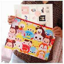 Tsum Tsum Disney Double Zip A4 File Folder Zipper Document Organizer Pen bag