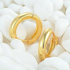 14k Yellow Gold Filled Hook Huggie Earring Smoothly Women Gift Statement