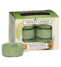 YANKEE Candle CLASSIC TEA LIGHT FRAGRANZA VANIGLIA LIME Confezione da 12