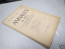 ANNALES DE L EST 1964 N° 2 LA NECROPOLE BARBARE DU BEHAUT A GRAND (Vosges) *