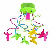Kids Girls / Boys chandelier Birds & Butterfly light Fixture Pink, Green, Yellow