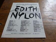 EDITH NYLON - Publicité de magazine / Advert JOHNNY JOHNNY TOUR !!!!!!!!!!