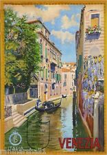 Venezia Venice Italy Vintage European Travel Advertisement Poster Picture Print