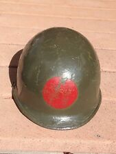 RARE WW2 Original Red Ball Express panted M1 Helmet WWII African American unit