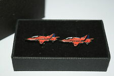 Red Arrow Areoplane Cufflinks Gift BOXED Enamel RAF Wedding Men's Accessories
